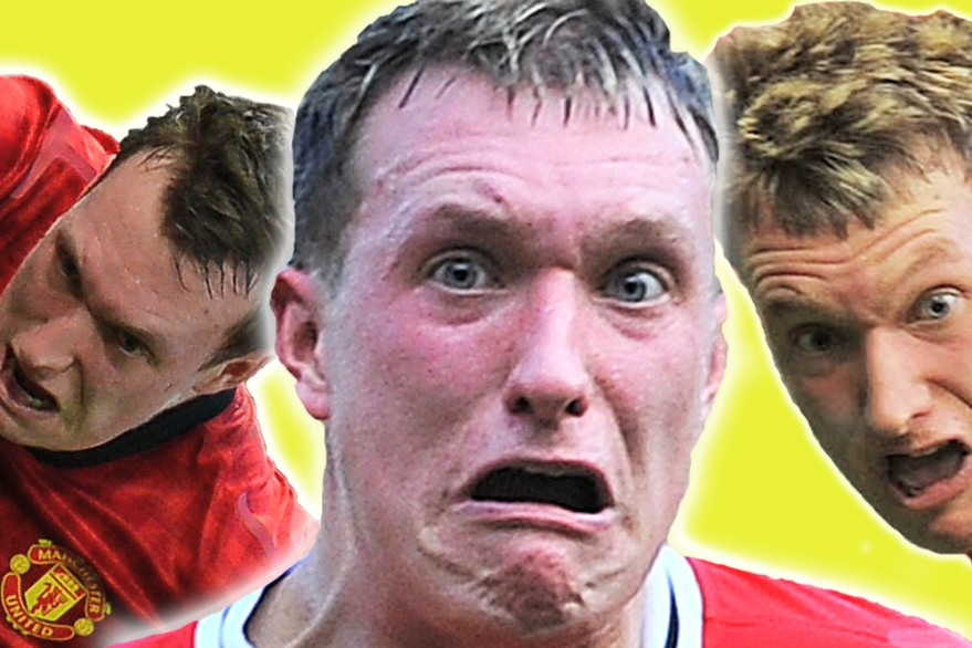 Phil Jones' funny faces