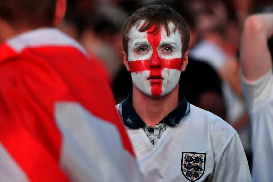 Sad England fan